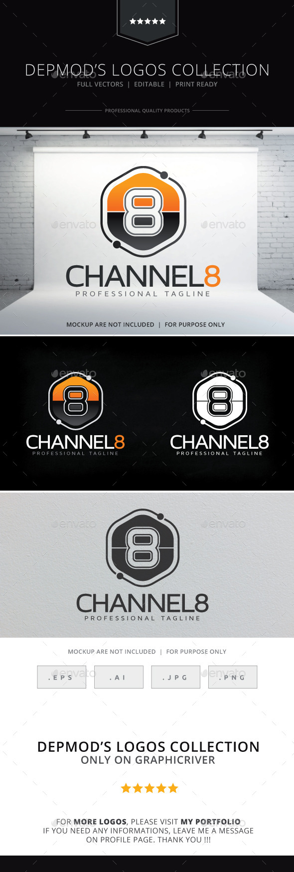 Channel 8 Logo - Numbers Logo Templates
