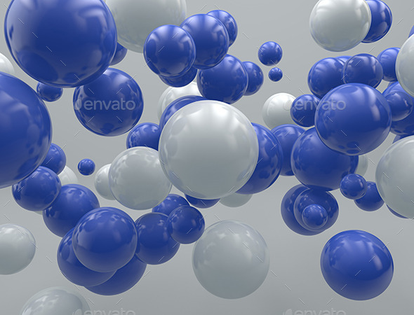 3D- Flying Balls - Miscellaneous 3D Renders