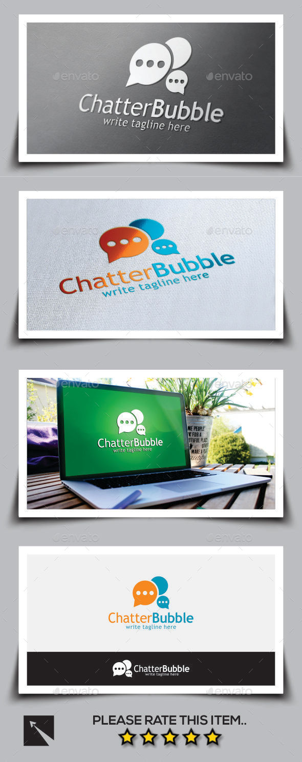 Chatter Bubble Logo Template - Abstract Logo Templates