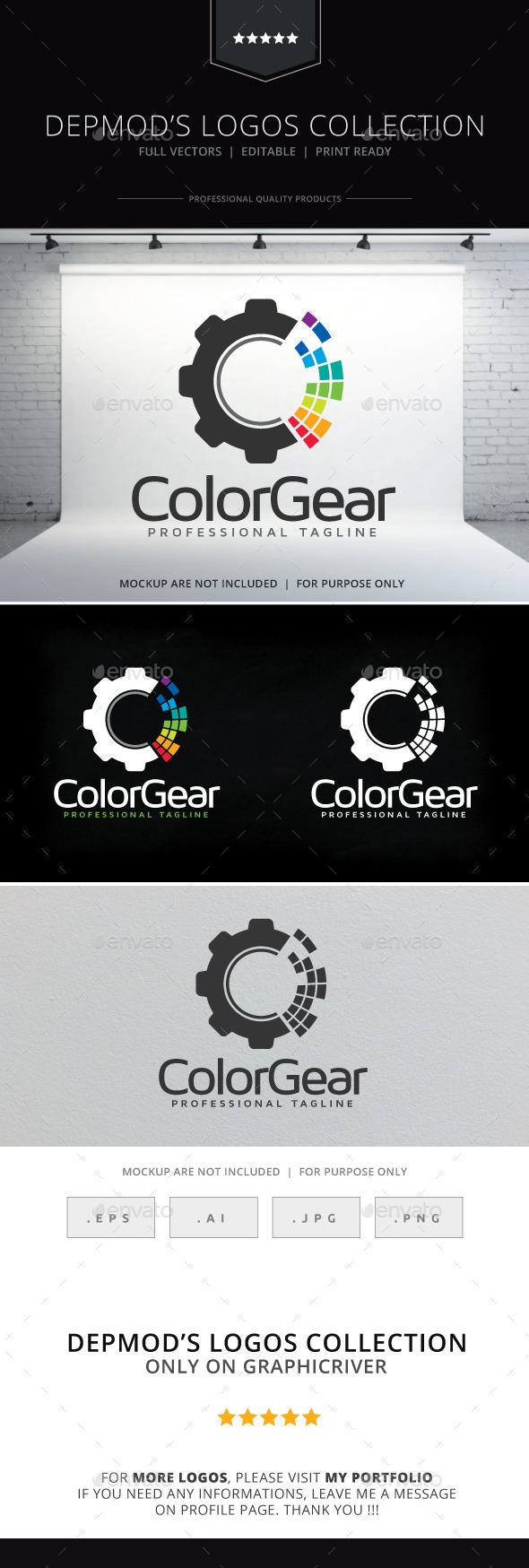 Color Gear Logo - Symbols Logo Templates