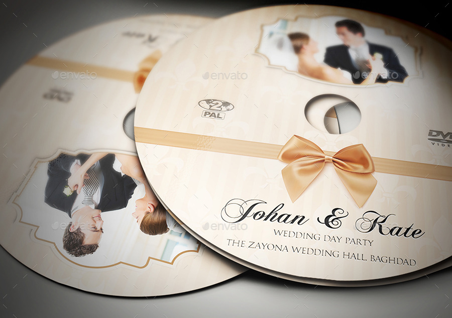 Wedding Dvd Cover And Dvd Label Template Vol.5 By Owpictures