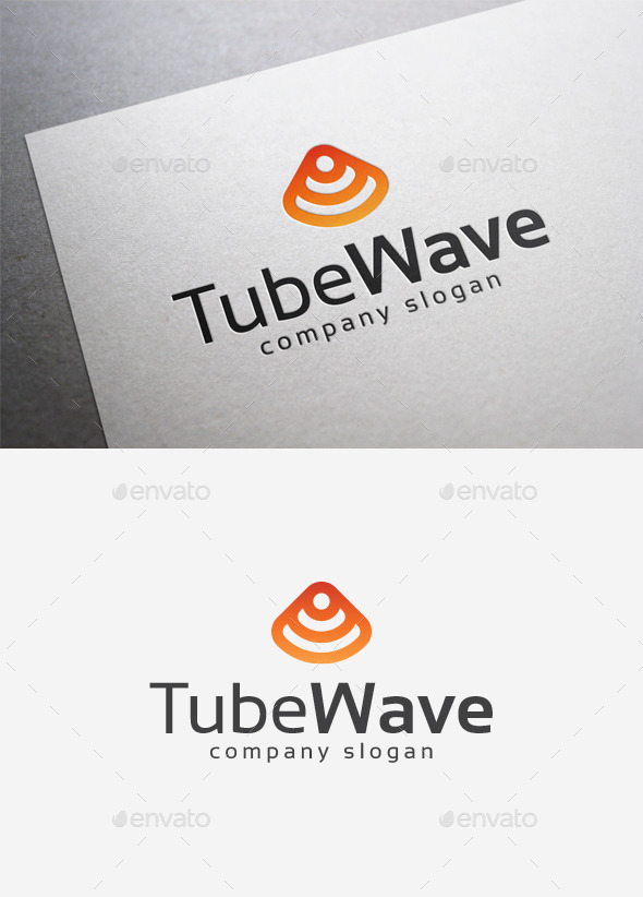 Tube Wave Logo - Abstract Logo Templates
