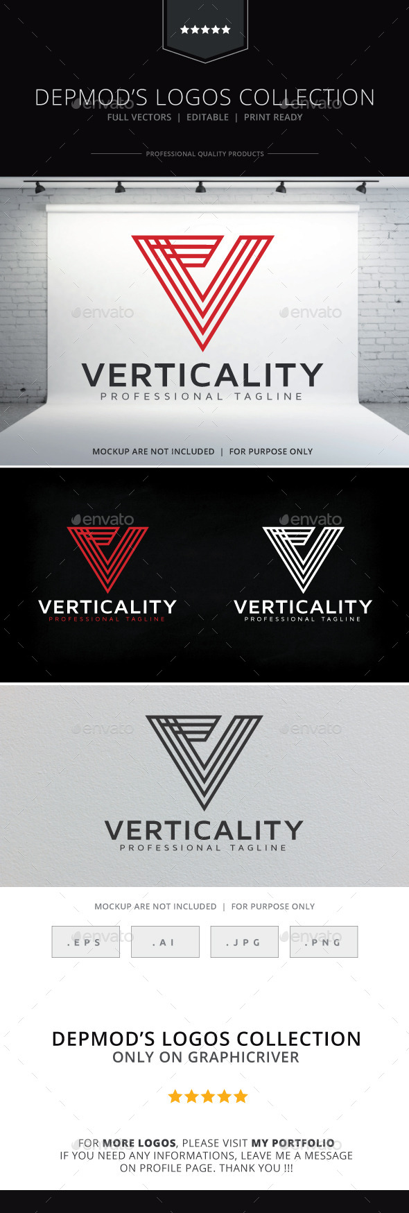 Verticality Logo - Letters Logo Templates