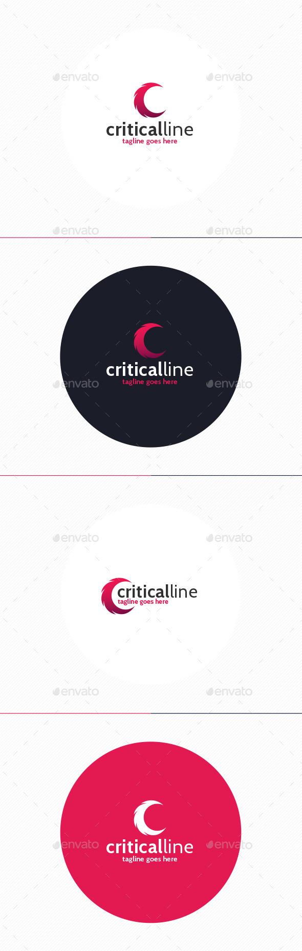 Critical Line Logo • Letter C - Letters Logo Templates