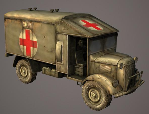 Austin Ambulance - 3DOcean Item for Sale