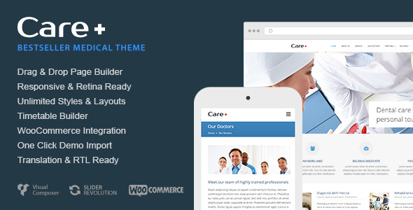 Free Download Care - Medical and Health Blogging WordPress Theme Nulled Latest Version