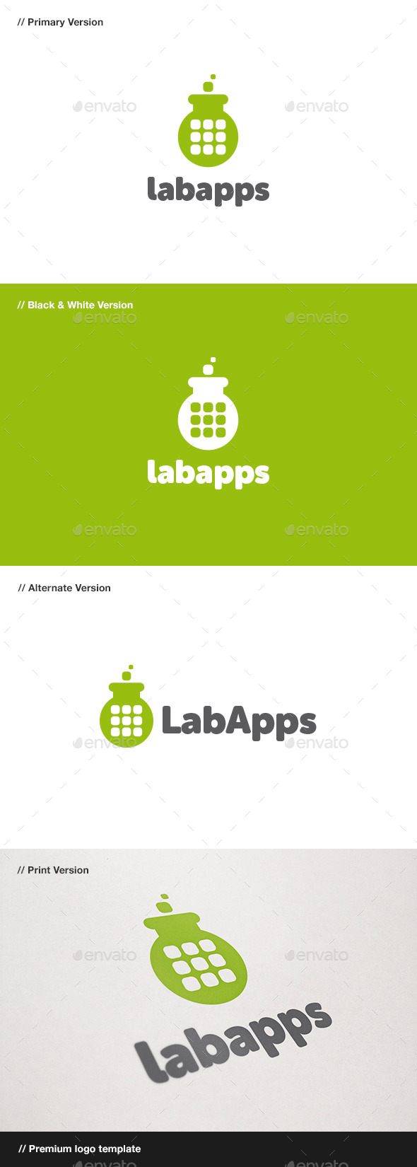 Lab Apps Logo - Objects Logo Templates