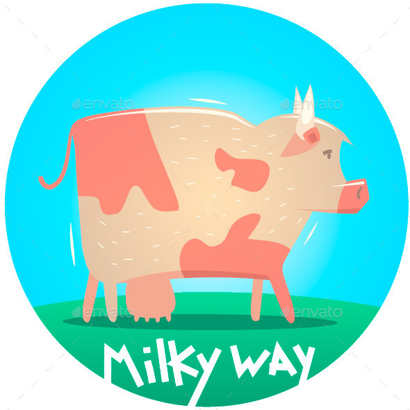 Cow Illustration  - Animals Characters