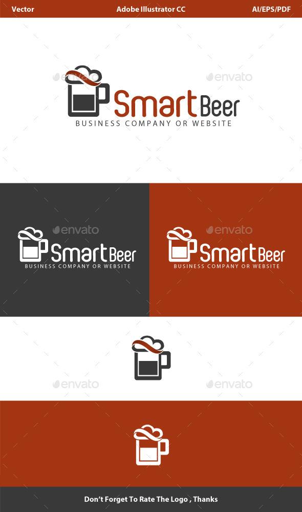 Smart Beer Cloud Logo - Vector Abstract