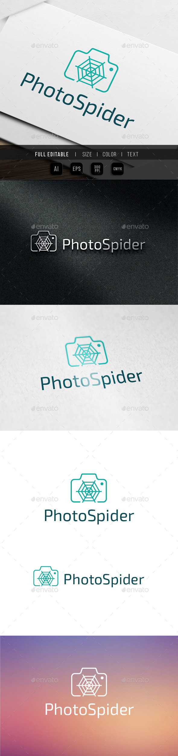 Photo Spider - Micro Shot Logo Template - Abstract Logo Templates