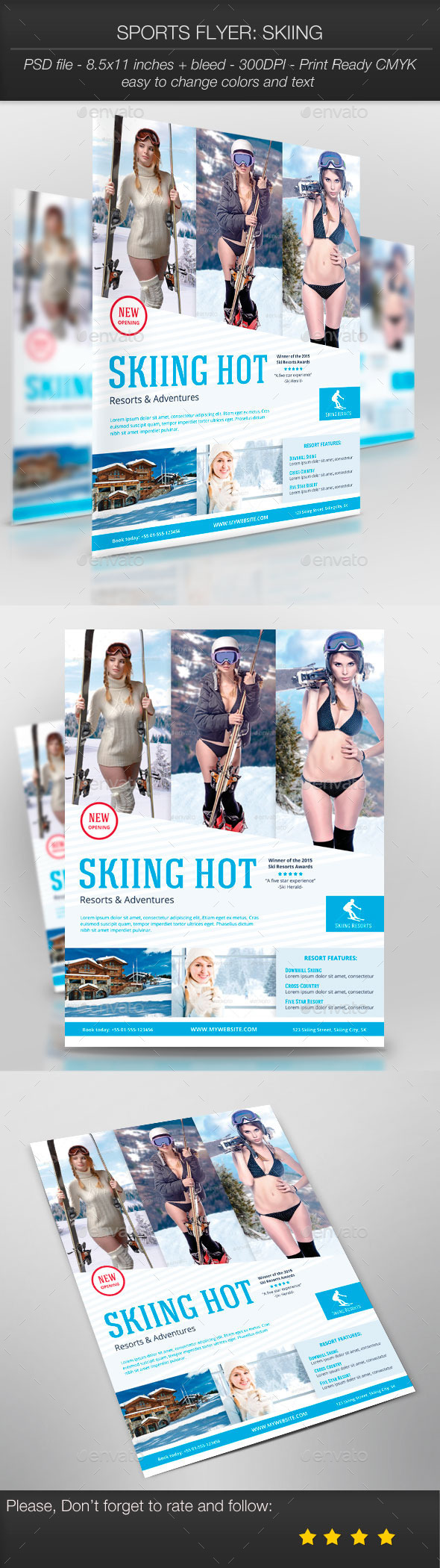 Sports Flyer: Skiing - Sports Events