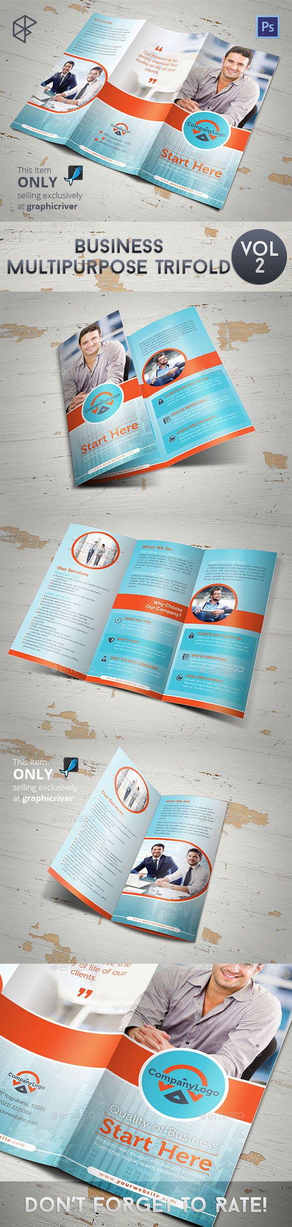 Business Multipurpose Trifold Vol 2 - Informational Brochures