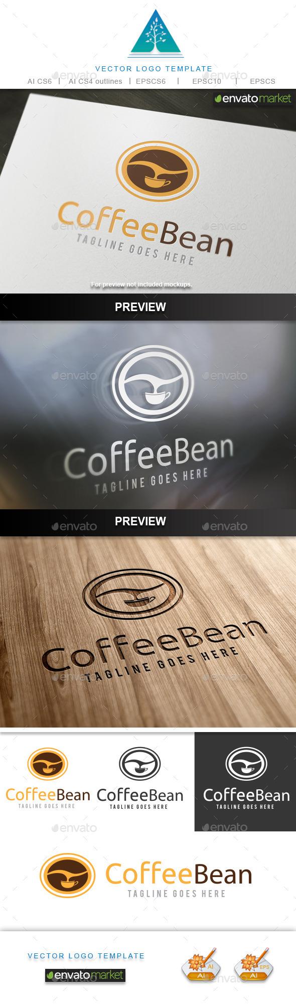 Coffee Bean - Food Logo Templates
