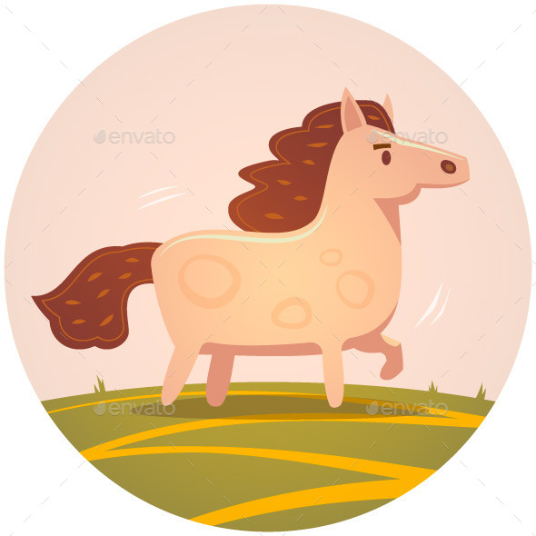Horse Illustration  - Animals Characters