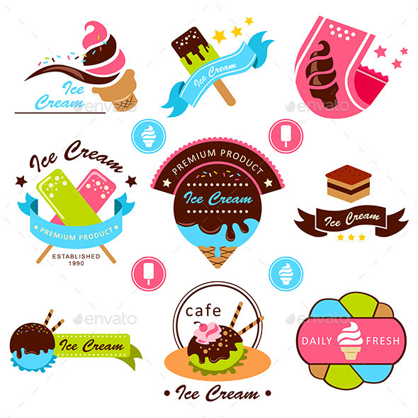 Ice Cream Label - Food Objects