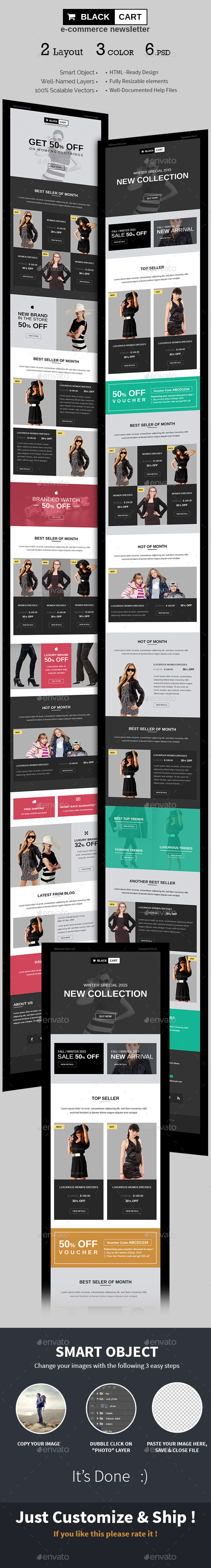 E-commerce Special Offers Newsletter PSD Template - E-newsletters Web Elements