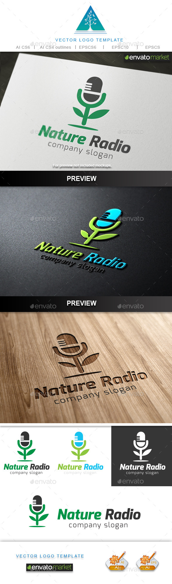 Nature Radio  Logo - Symbols Logo Templates