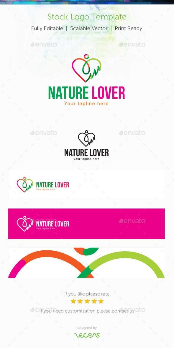 Nature Lover Stock Logo Template - Nature Logo Templates