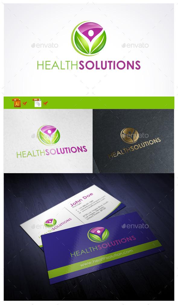 Health Solutions  - Symbols Logo Templates