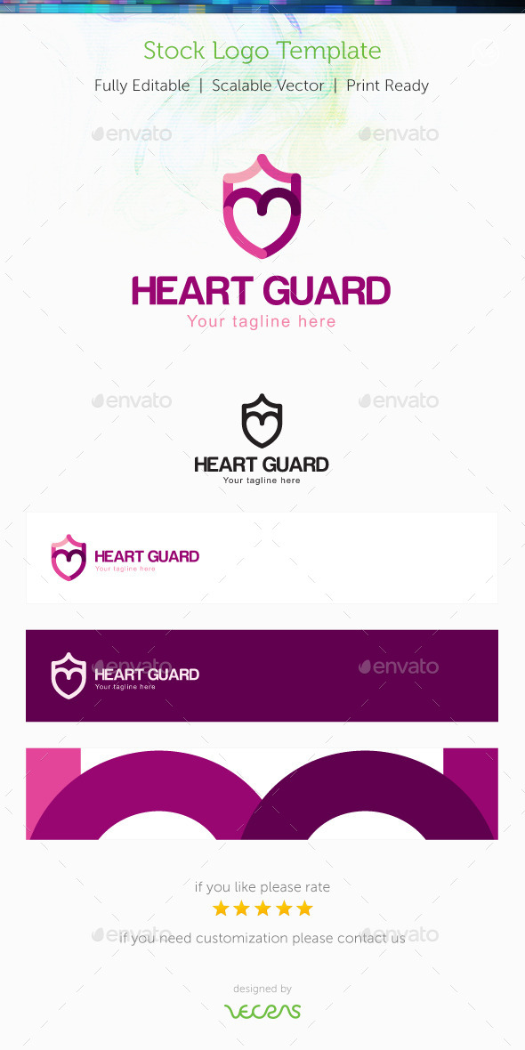 Heart Guard Stock Logo Template - Symbols Logo Templates