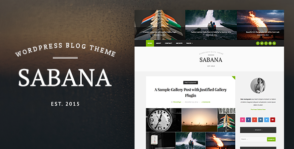 Sabana – Clean & Elegant WordPress Blog Theme
