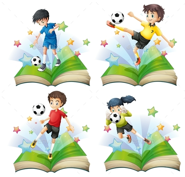Soccer Book Set - People Characters