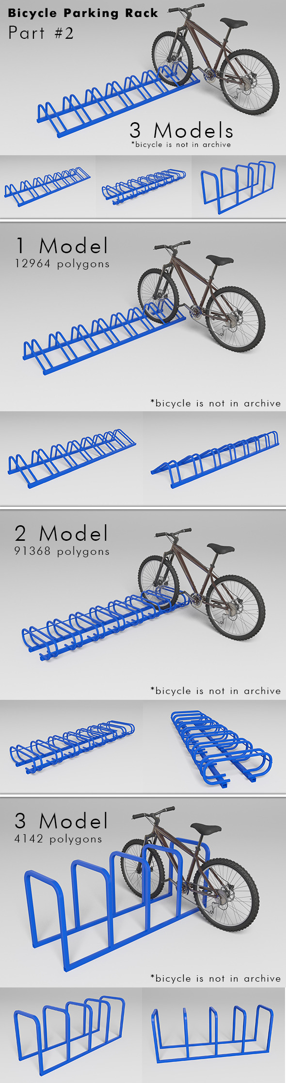 Bicycle Parking Rack - Part #2 - 3DOcean Item for Sale