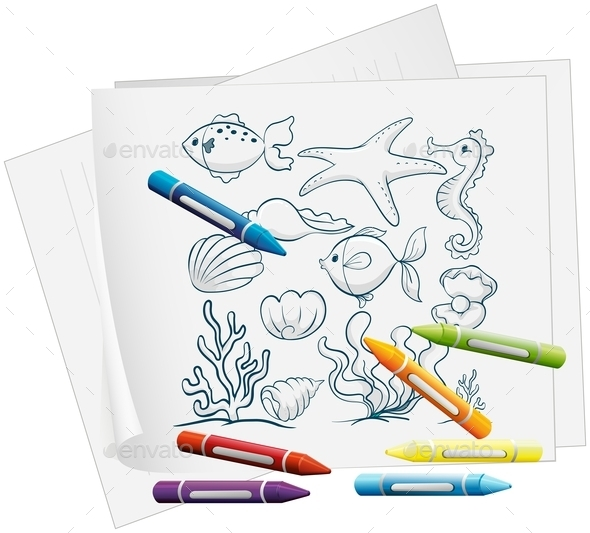 Coloring Book Illustration  - Man-made Objects Objects