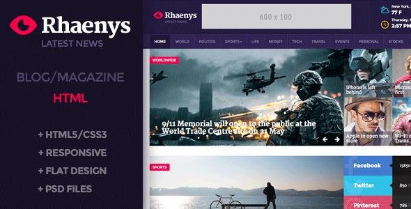 Rhaenys – Magazine / News Responsive Template