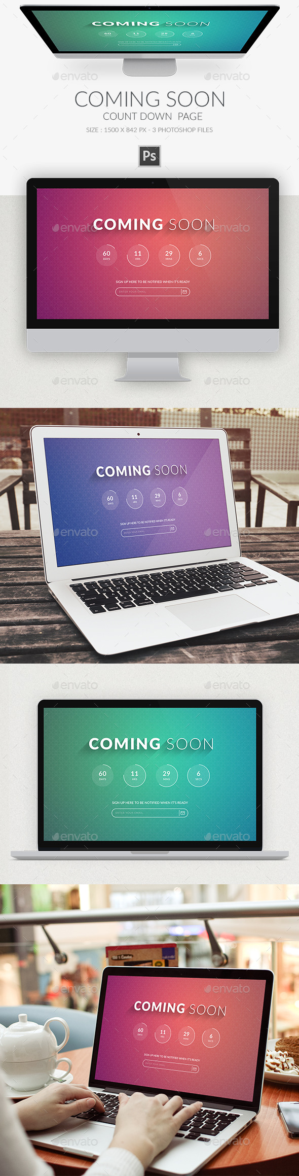 Coming Soon Page PSD - Miscellaneous Web Elements