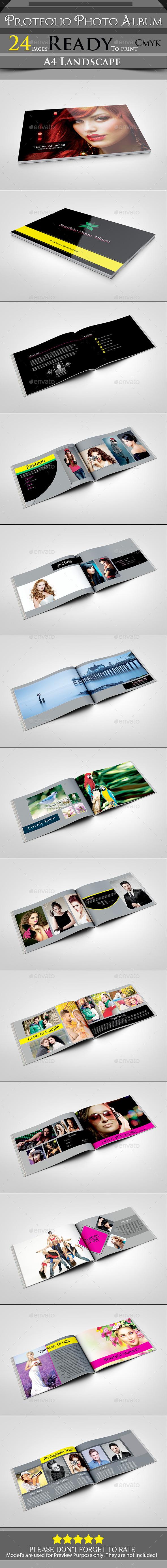 Protfolio Photo Album  - Photo Albums Print Templates