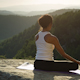 Yoga Teacher, Amazing Sunset, Mountain Clifftop 9 - VideoHive Item for Sale