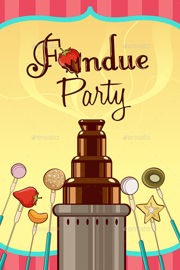 Fondue Party Invitation - Backgrounds Decorative