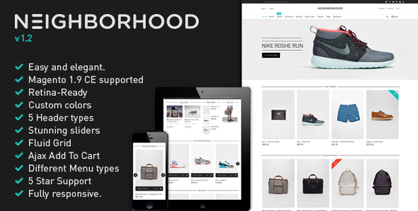 Neighborhood – Ultimate Responsive Magento Theme