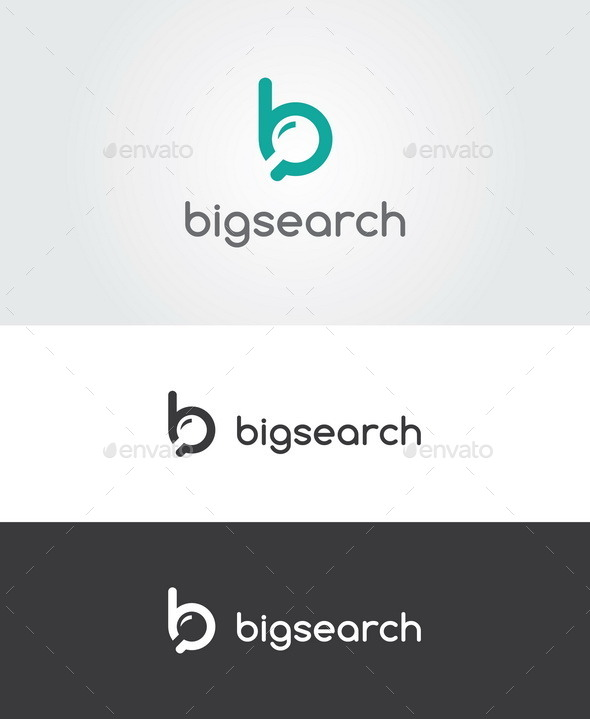 Big Search Logo - Letters Logo Templates