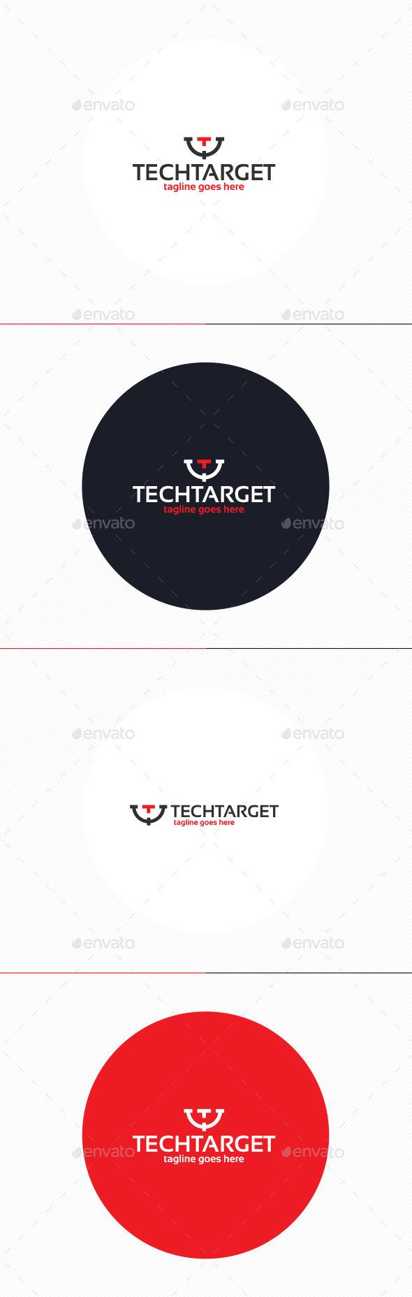 Tech Target Logo • Letter T - Letters Logo Templates
