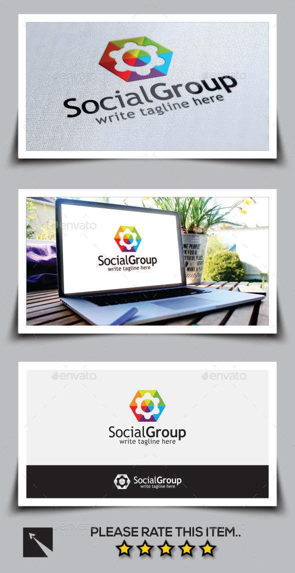 Social Group Logo Template - Abstract Logo Templates