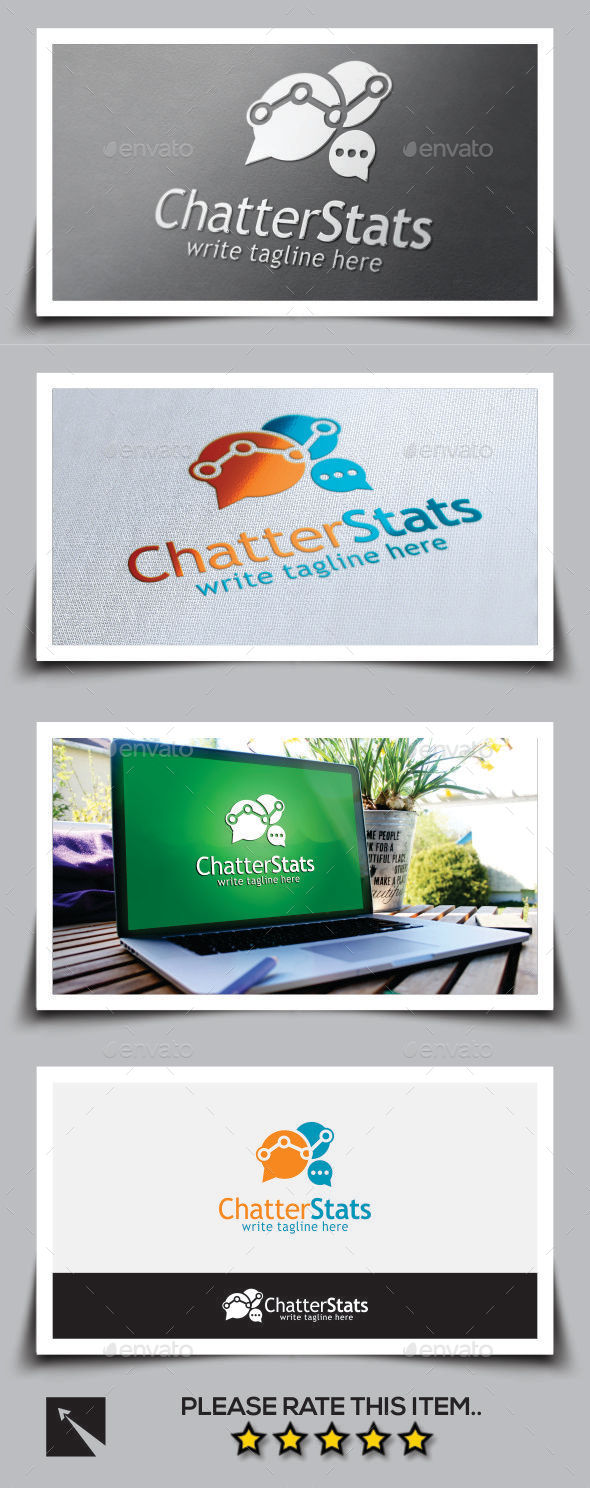 Social Chatter Stats Logo Template - Abstract Logo Templates