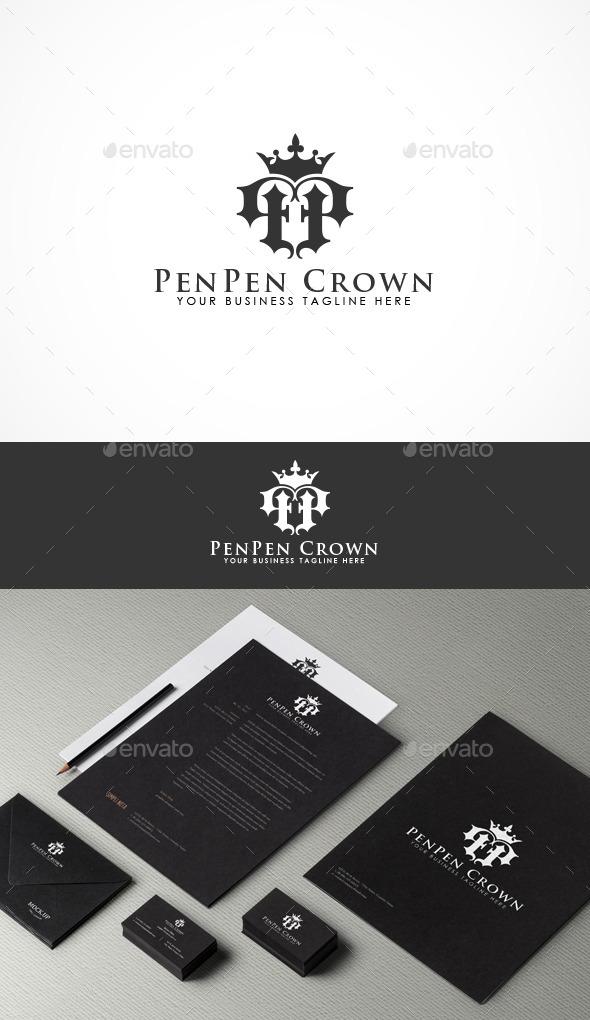 PenPen Crown Logo - Letters Logo Templates