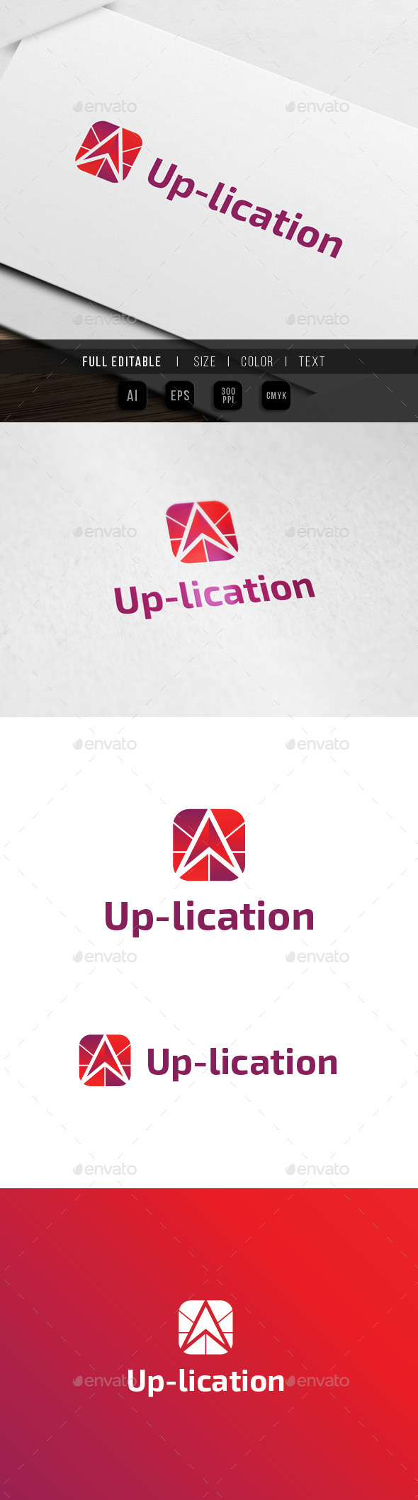Up Application Logo - Abstract Logo Templates