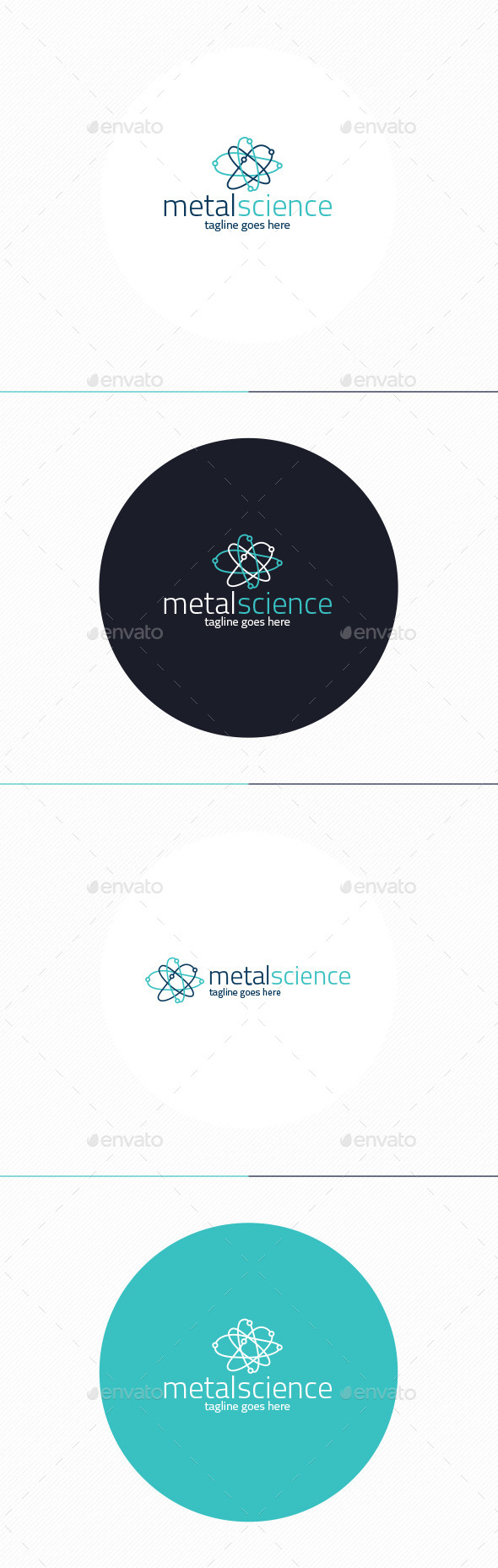 Metal Science Logo - Vector Abstract