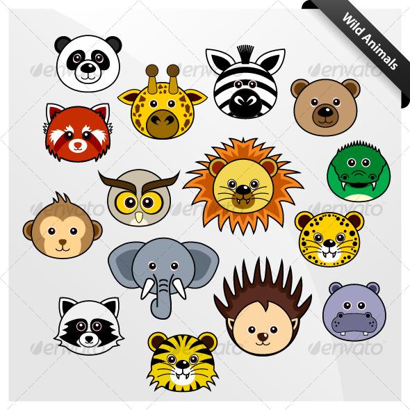 Wildlife Animal Cute Cartoon - Animals Characters