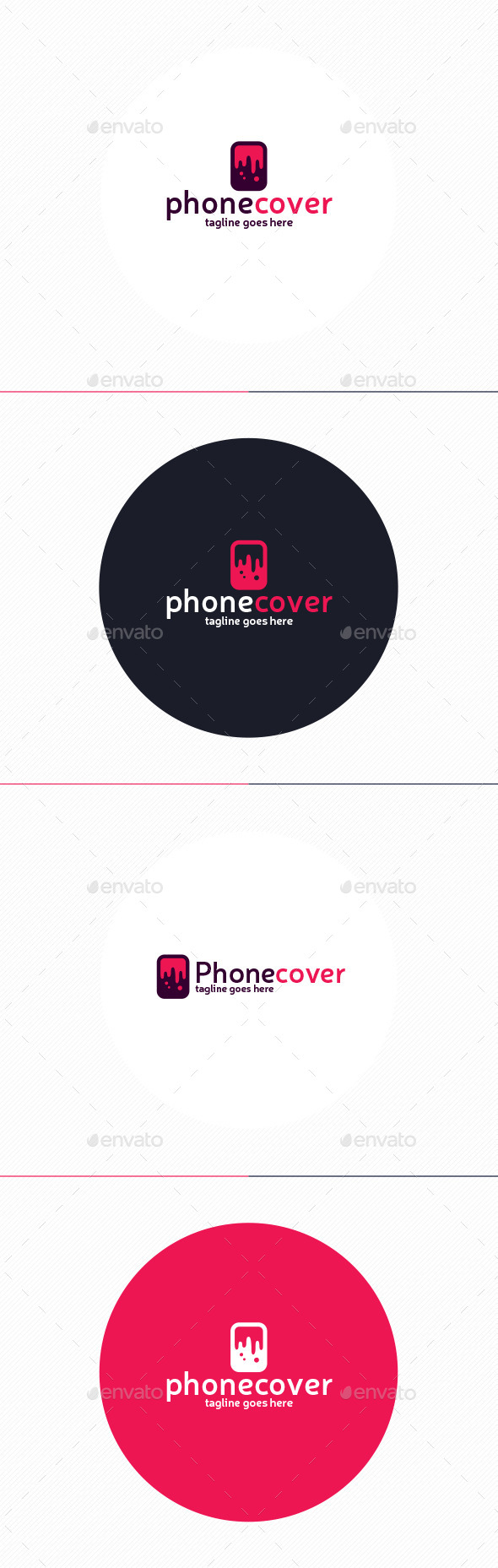 Phone Cover Logo - Objects Logo Templates