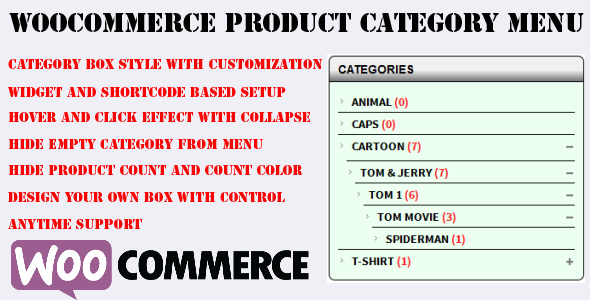 Woocommerce Category Accordion Plugin - CodeCanyon Item for Sale