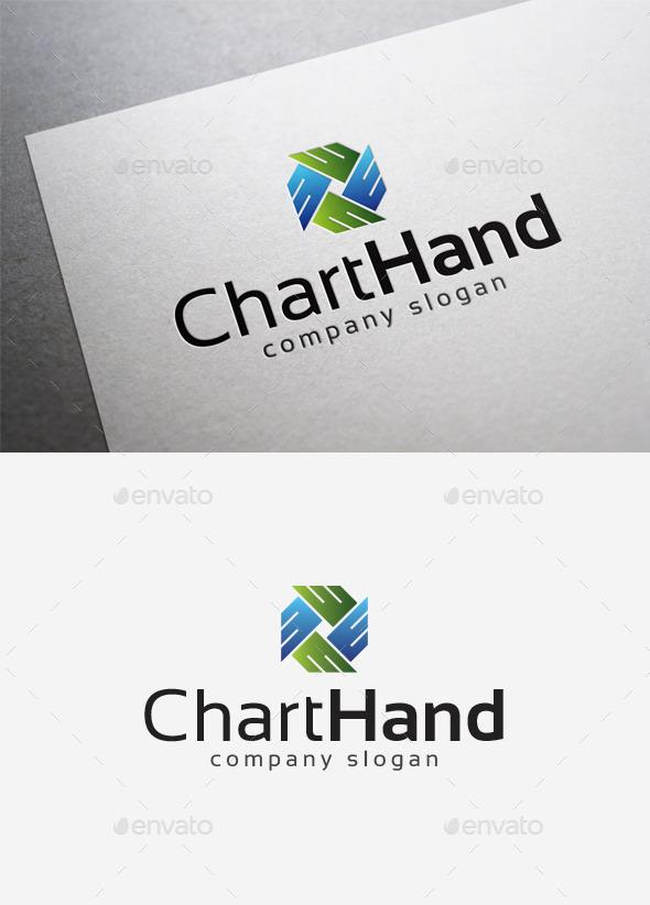 Chart Hand Logo - Abstract Logo Templates