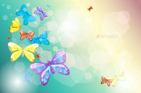 Colorful Butterflies - Animals Characters