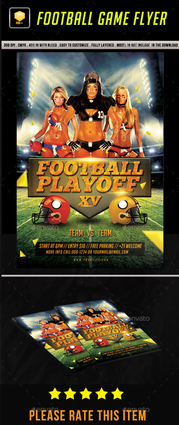 Football Game Flyer - Sports Events