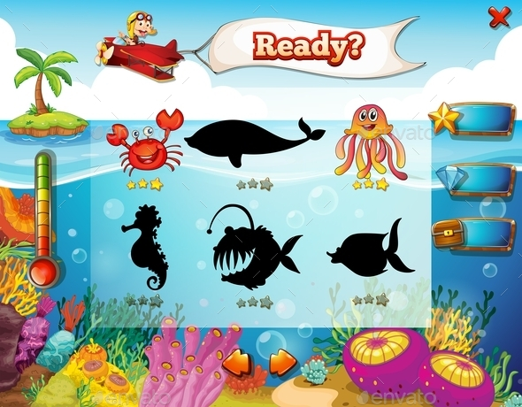 Underwater Game - Animals Characters