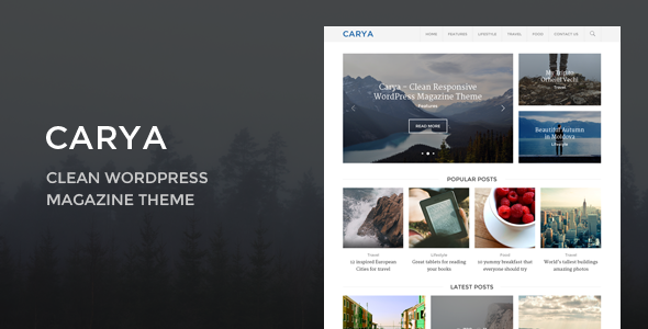 Carya – Clean WordPress Magazine Theme