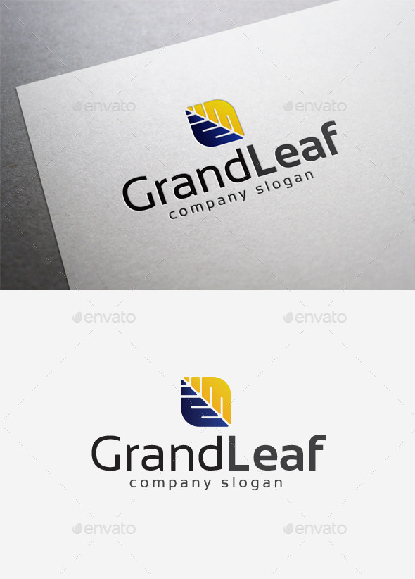 Grand Leaf Logo - Symbols Logo Templates